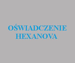 Oświadczenie Hexanova