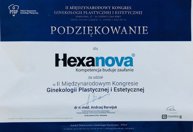 II Congress of the Polish Society of Aesthetic and Reconstructive Gynecology 06.2018 3 - 2nd Congress of the Polish Society of Aesthetic and Reconstructive Gynecology